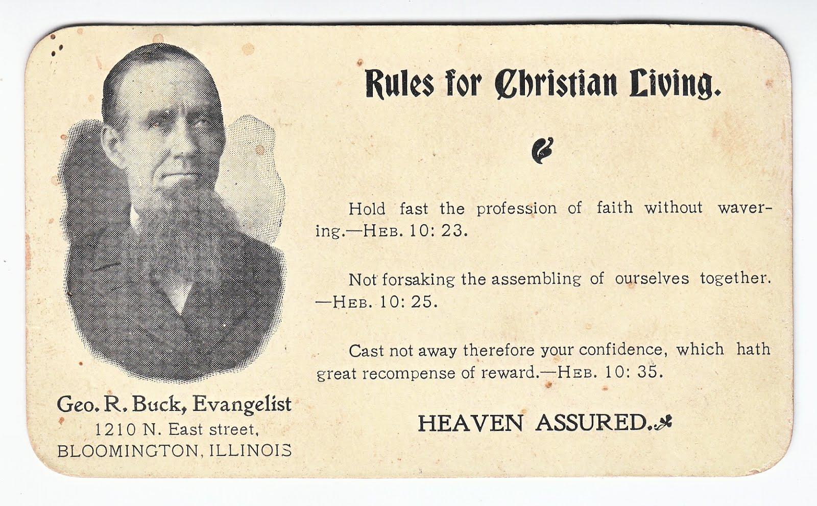 Rules for christian living